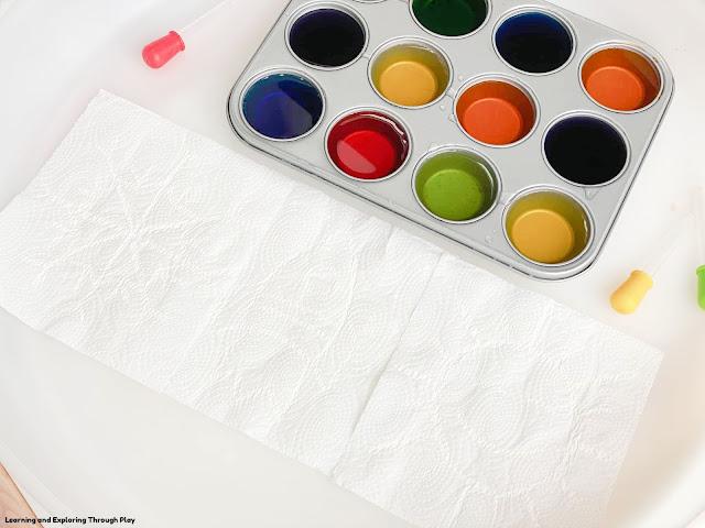 Magic Paper Towel Science Art