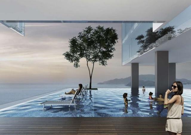 Bể bơi tầng 32 Condotel AB Central Square Nha Trang