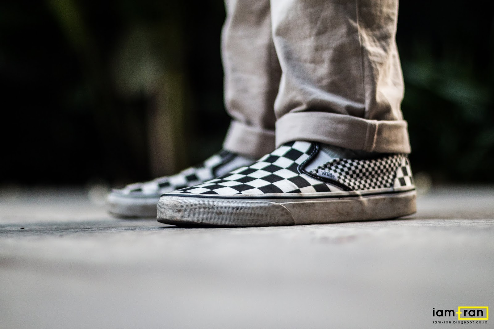 c6a36d37b5d587 IAM-RAN  ON FEET   Arfan Okky - Vans Classic Slip on Mix Checkerboard