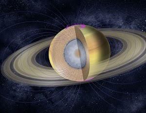 Las profundidades de Saturno puede fluir como la miel