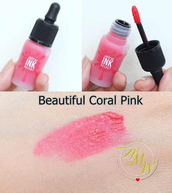 a photo of PeriPera's Airy Ink Velvet Beautiful Coral Pink