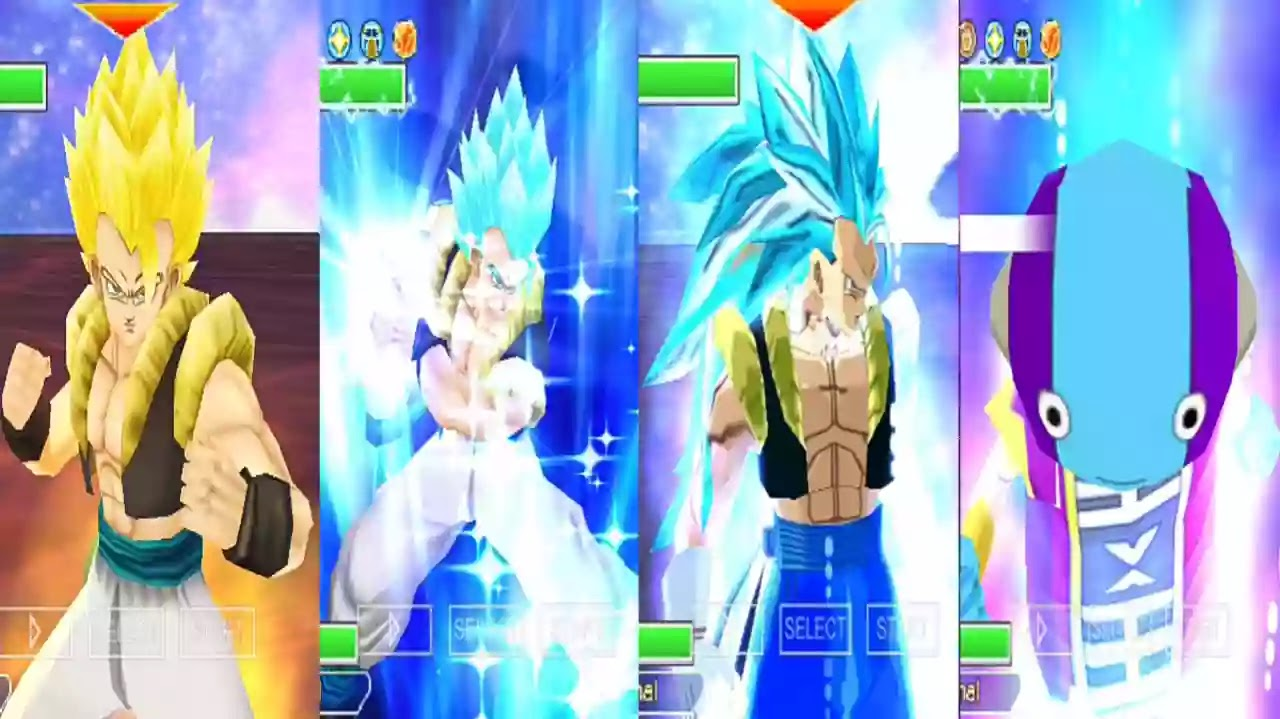 Zeno Sama and Gogeta Blue God