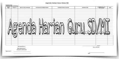 Administrasi Agenda Harian Guru SD/MI Dengan Format Word