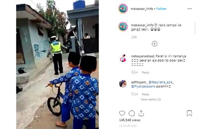 Viral! Polisi Razia ke Gang Kecil, Netizen: Sekalian Aja Door to Door