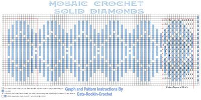 mosaic crochet free pattern