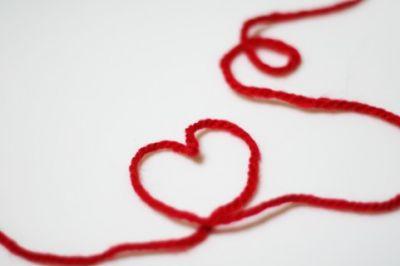 1 METRI-filo bordato nastro-Rosso Amore Cuori