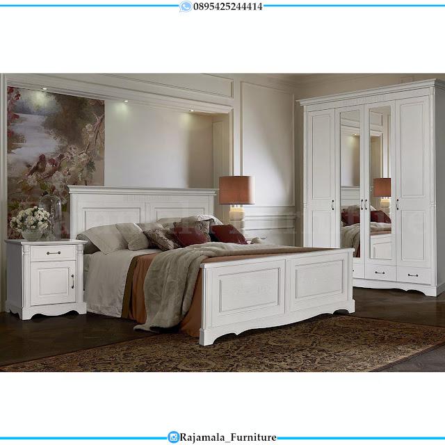 Dipan Minimalis Putih Set Tempat Tidur Modern Furniture Jepara RM-0292