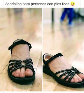 Sandalias para pies feos