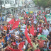 Manifestantes realizam caminhada pelas ruas de Guarabira contra reformas de Temer