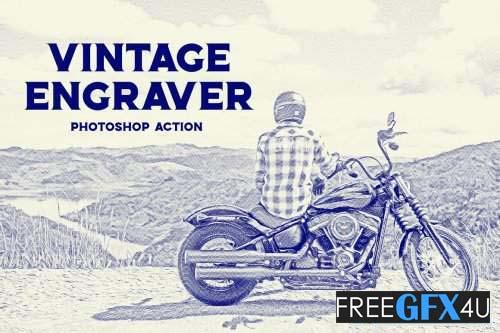 Vintage Engraver - Photoshop Action