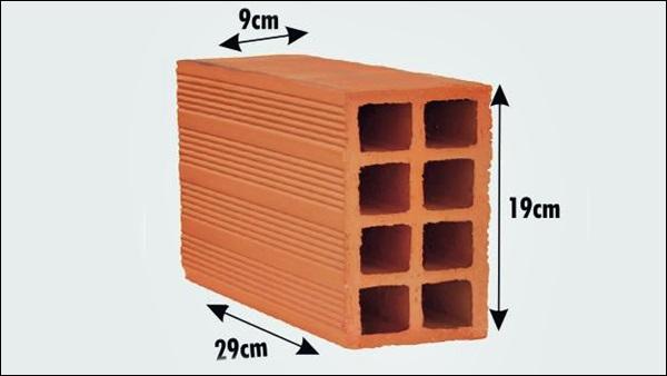 medida do tijolo de 8 furos 9x19x29