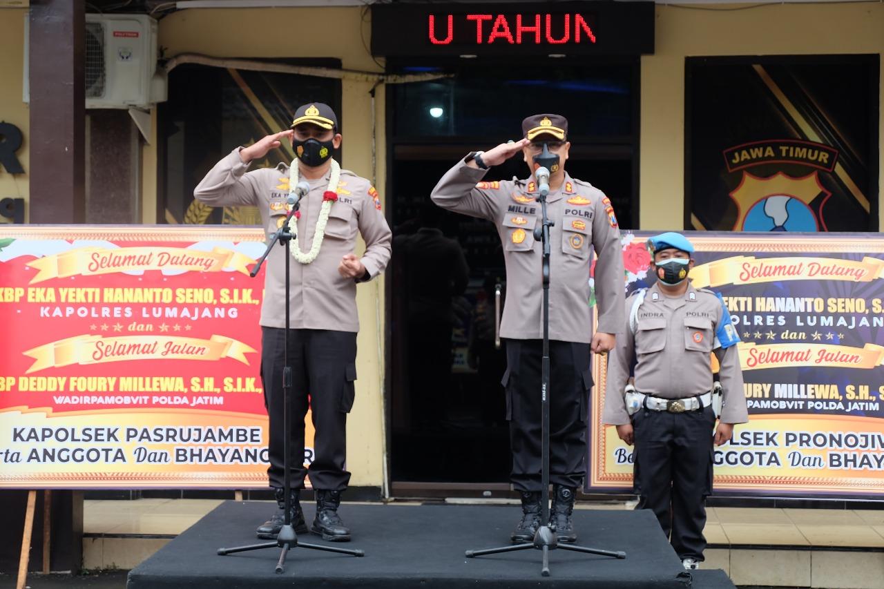 AKBP Eka Yekti Hananto Seno Resmi Lanjutkan Estafet Kepemimpinan Polres Lumajang