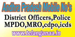West Godavari District Tahsildars Phone Numbers-Mobile Numbers Andhra Pradesh State