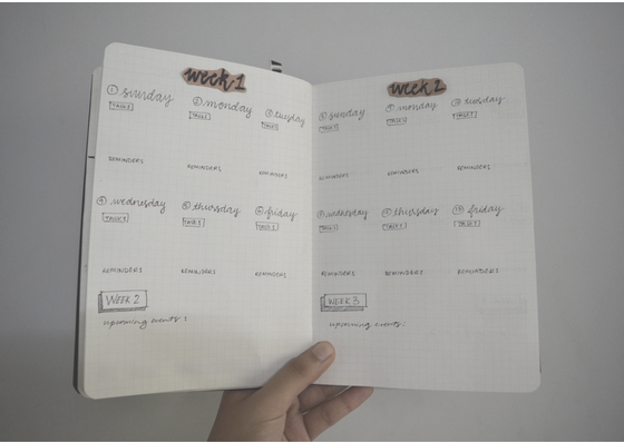 bullet journal spread july 2018 quick and easy