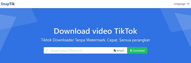 Cara Download Video TikTok Tanpa Aplikasi Secara Online SnapTik