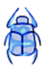 blue khafre beetle created by Barbara Ivie Green
