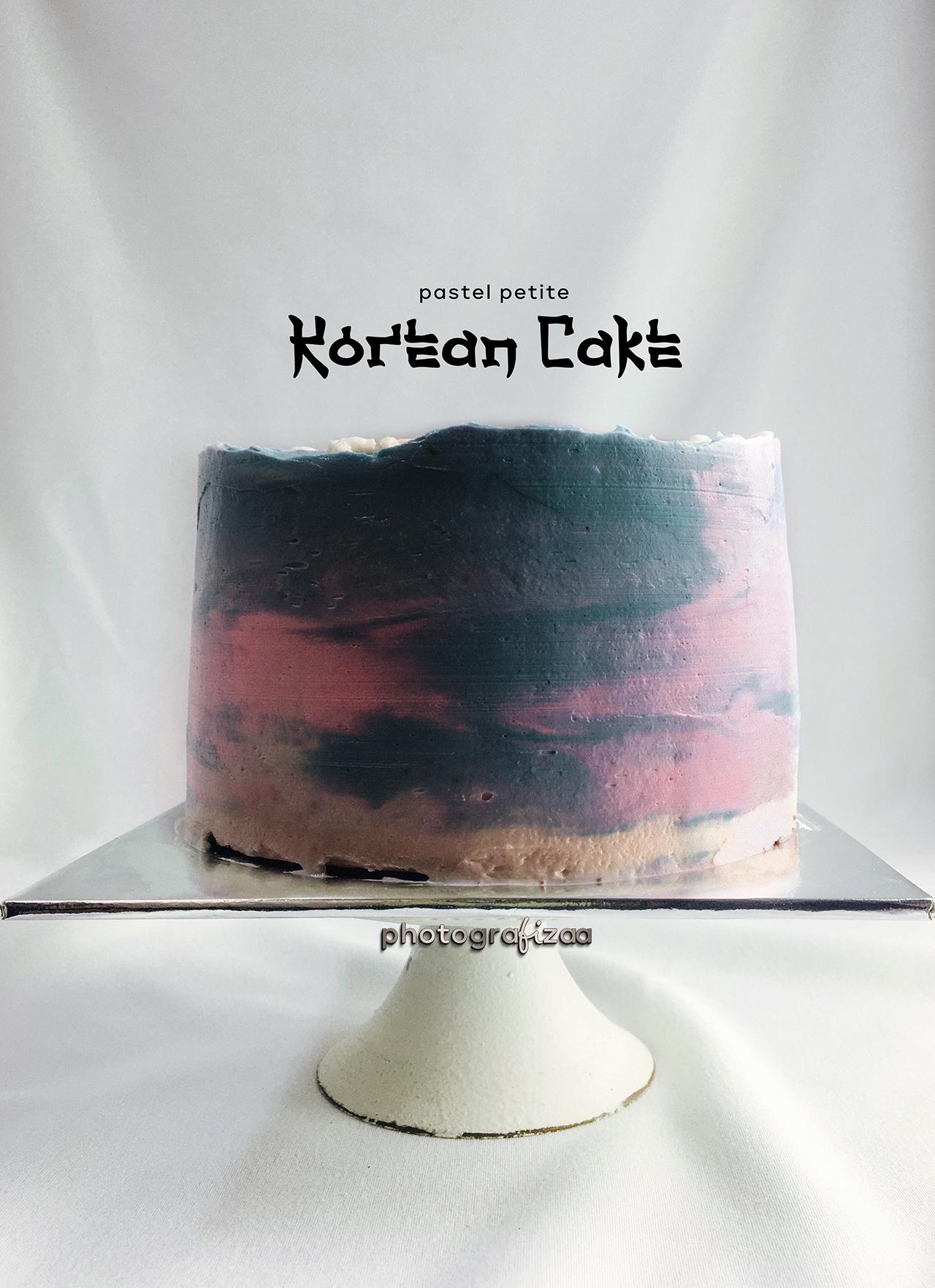 Simple korean cake design