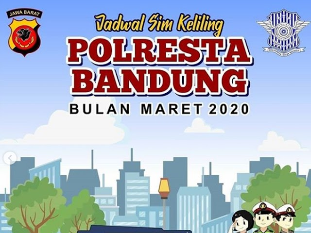 Jadwal SIM Keliling Polresta Bandung Bulan Maret 2020