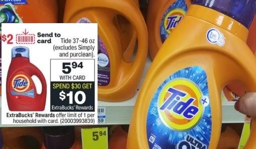 Tide Laundry Detergent CVS Deal 9/19-9/25