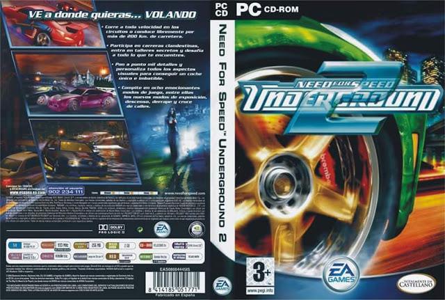 لعبة سباق السيارات الجزء الثاني need for speed underground 2 مضغوطه بحجم 1 جيجا برابط واحد على mediafire