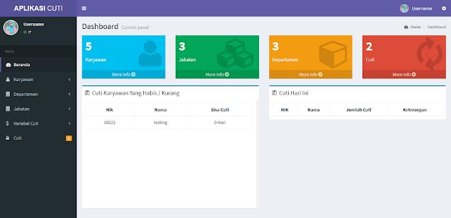 Aplikasi Cuti Karyawan Berbasis Web