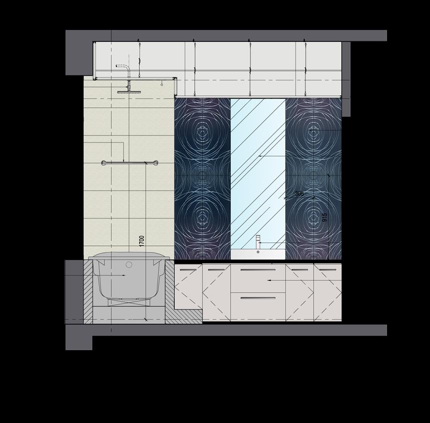 Thiết kế phòng tắm tiêu chuẩn