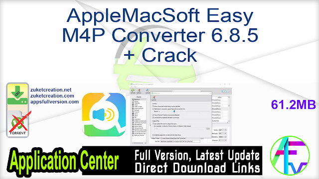 AppleMacSoft Easy M4P Converter 6.8.5 + Crack
