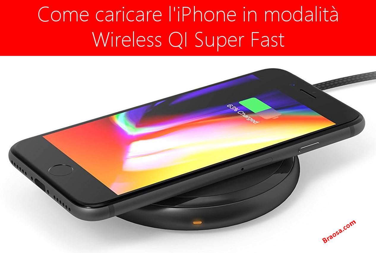 Caricare l'iPhone con caricabatteria Wireless QI