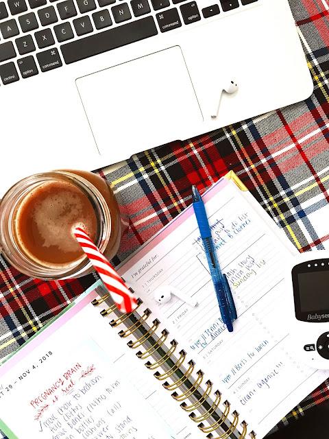 coffee, computer, planner photo