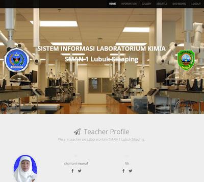 Home Page - Sistem Informasi Management Laboratorium Berbasis Web