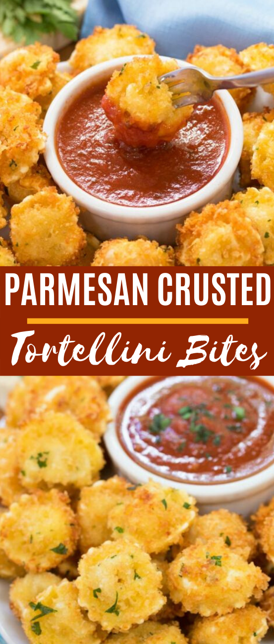 Parmesan Crusted Tortellini Bites #appetizers #snacks #gameday #partyfood #pasta
