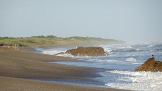 Sharp rocks Nicaragua Beach