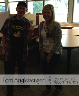 http://ramonarecommends.blogspot.com/2014/09/tom-angelberger-in-california.html