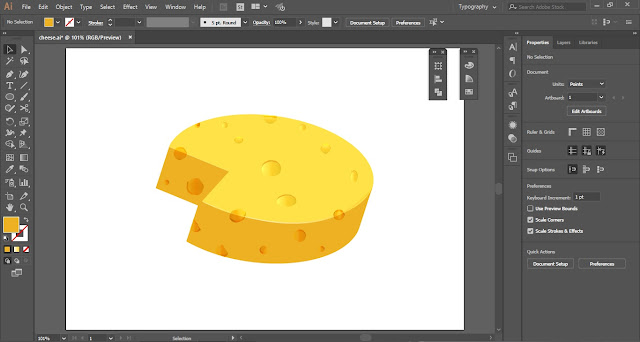 Vector Cheese in Adobe Illustrator