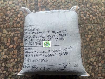 Benih Padi Pesanan  IMAM SUPARNI Tulungagung, Jatim.    (Setelah di Packing).