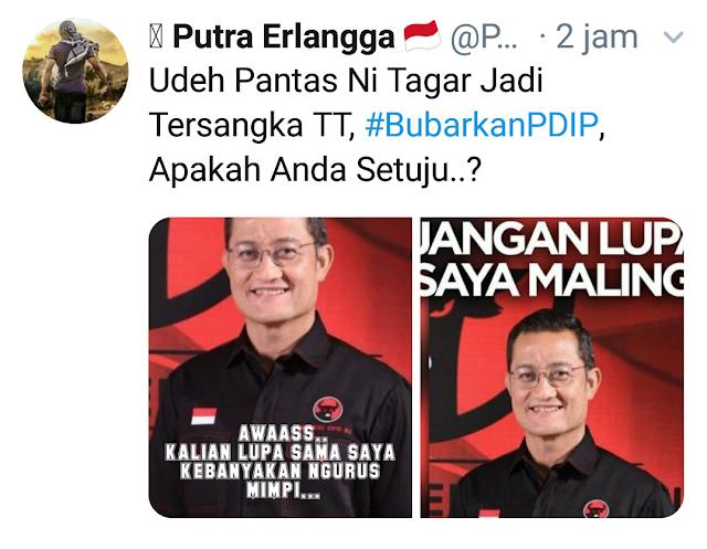 Hastag #BubarkanPDIP Trending di Twitter, Netizen Seret Kasus Harun Masiku dan Juliari