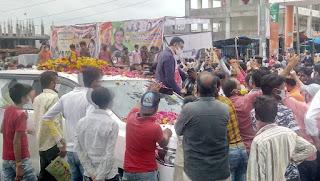 पीथमपुर आगमन पर केबिनेट मंत्री राज्यवर्धन सिंह दत्तीगांव का  किया भव्य स्वागत
