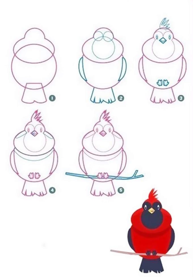 Easy animal drawings simple for kids step by step