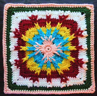 Free granny square crochet pattern - Tributary