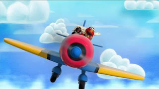 Elmo the Musical Airplane the Musical, Elmo imagines himself as an airplane pilot who is hired by a penguin. Sesame Street Episode 4321 Lifting Snuffy season 43