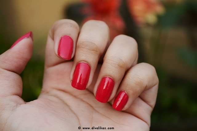 Nykaa Floral Carnival Nail Enamel Hot Pink Poppy Review
