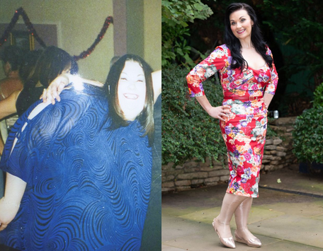 """A woman who refused weight-loss surgery as she """"didn't want to die on the  operating table and never meet her nephew"""" shed more than 17 stone."""