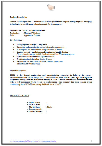 Sample Resume For Net Developer Fresher   Free Resume Example And     toubiafrance com
