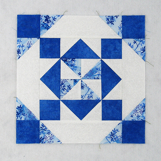 Square Within Squares Quilt Block designed by Elaine Huff of Fabric406