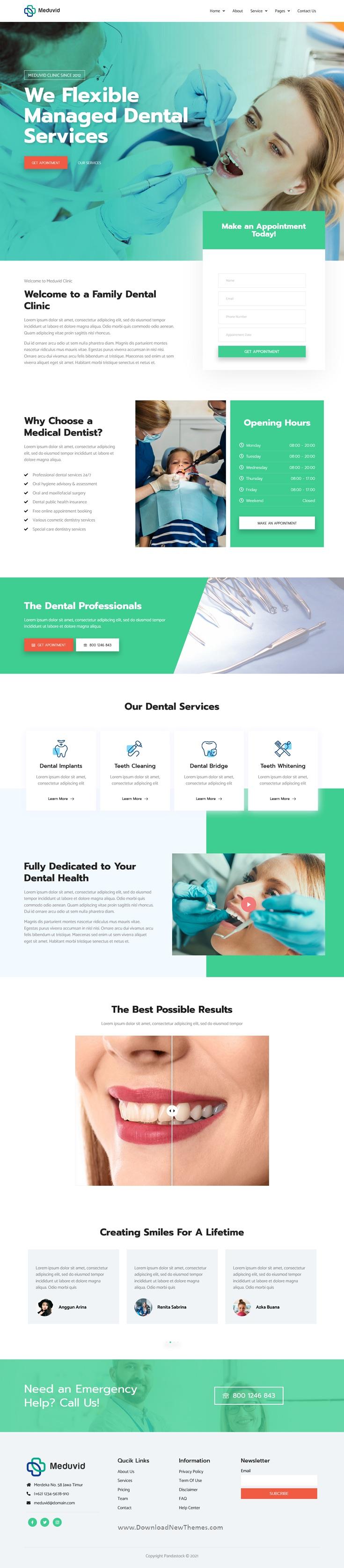 Medical & Dental Clinic Elementor Template Kit