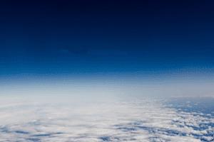 La atmósfera terrestre vista desde el espacio