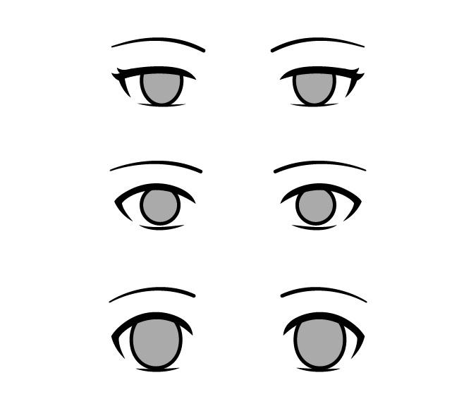 Mata anime kosong