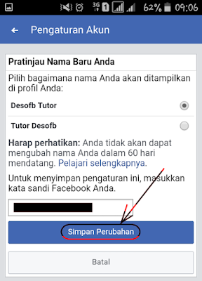 cara mengubah nama facebook, cara mengubah nama di facebook, Cara mengubah nama fb, Cara merubah nama di facebook