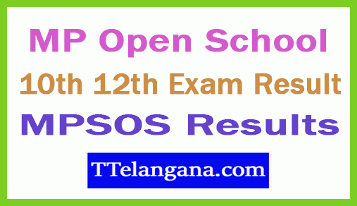 MPSOS Results MP Open School 10th 12th Exam Result