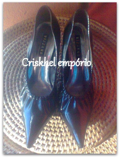 70557f138b Criskhel Empório  Ref.  0.53U – Sapato Scarpin De Elastico Vizzano Preto